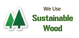 Our sheds, chalets, summer houses and workshops are all built with wood from sustainable sources