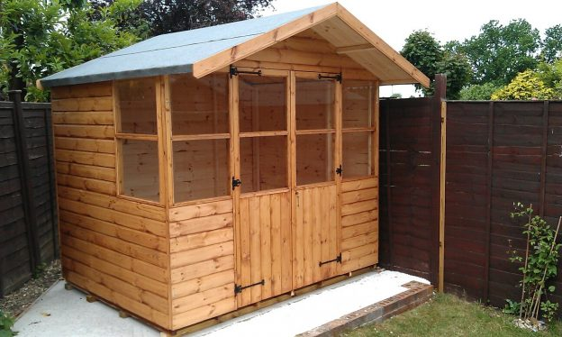 8ft wide x 6ft deep Summerhouse with 18inch Roof Overhang