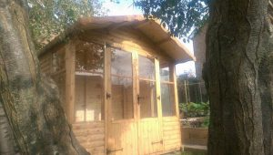 8ft x 8ft Swiss Chalet with 18'' roof overhang.