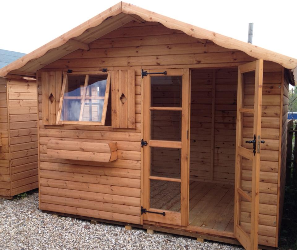 yukon chalet summerhouse home office sheds reading - Garden Sheds Reading
