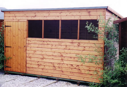 pent sturdy garden shed