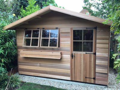 luxury cedar wood cabin